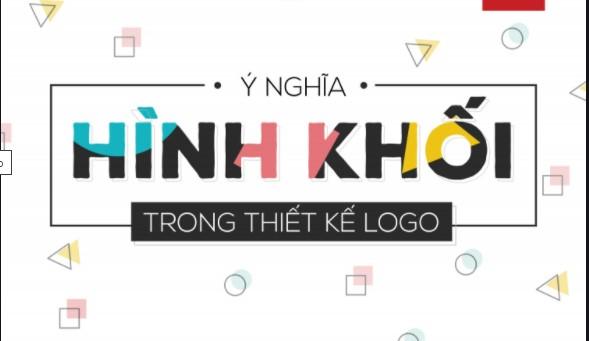Thiết kế logo hình học đơn giản