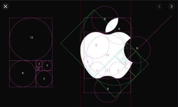 Tỉ lệ vàng trong thiết kế logo của Apple
