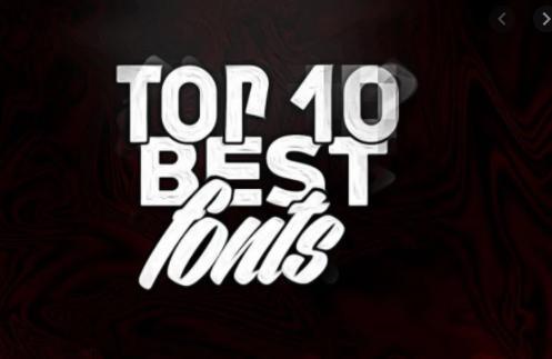 Top font chữ thiết kế logo phổ biến nhất